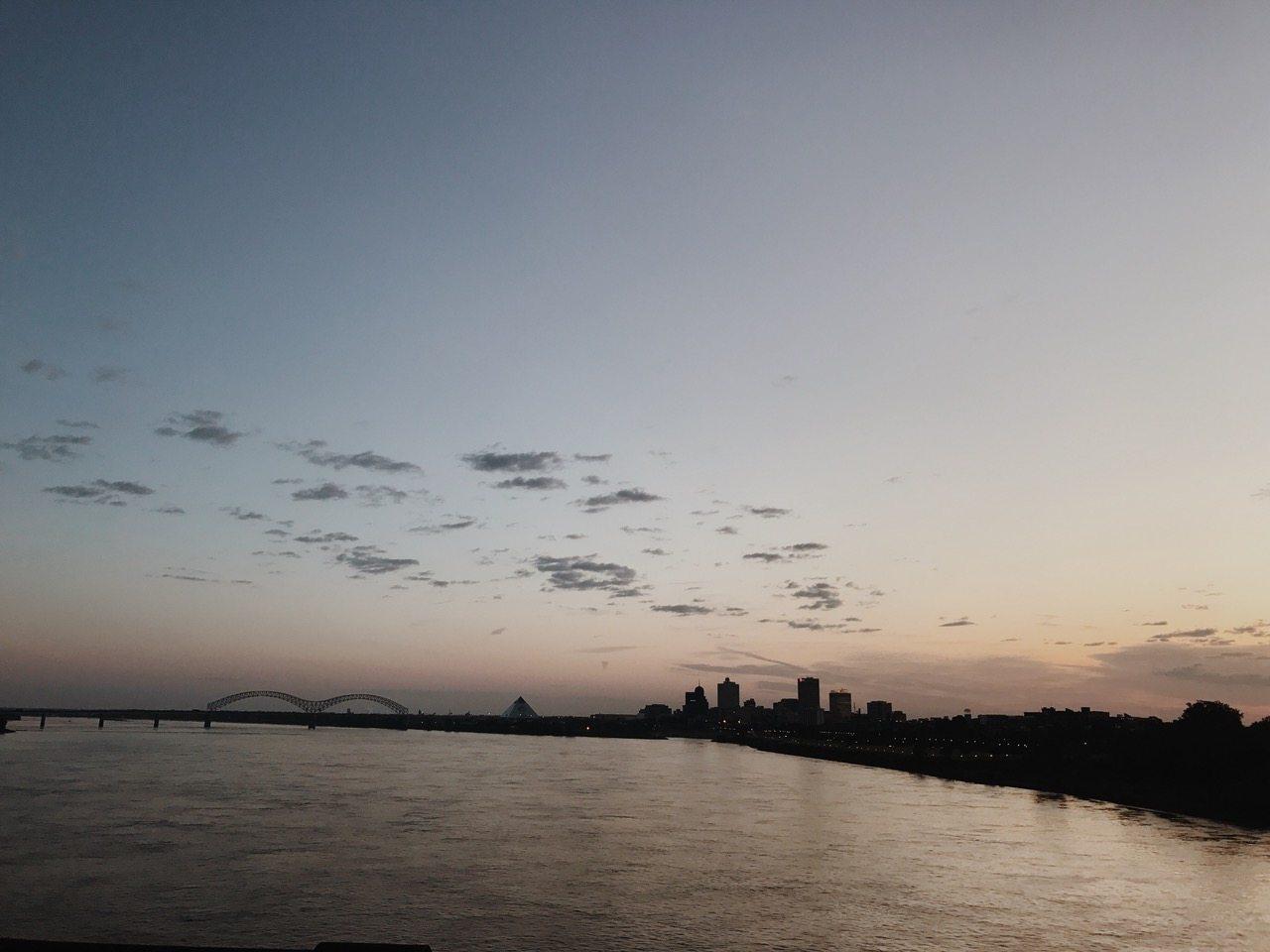 Downtown Memphis at sunrise